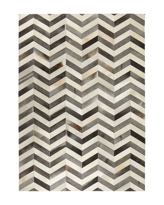 Windsor Chevron Hide Rug, 11'6