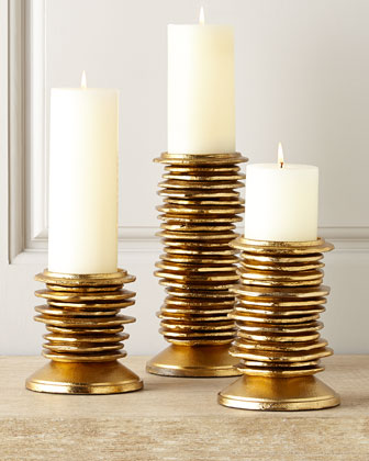Three Splendiferous Candleholders