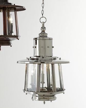 Nickel Nantucket Hanging Lantern