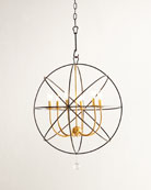 Gold Orbit Chandelier