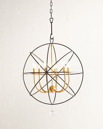 Gold Orbit Chandelier