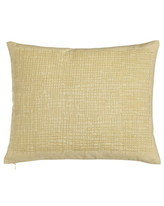Pillow w/ Crosshatch Embroidery, 16