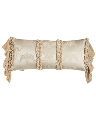 Le Creme Maison Pillow with Long Velvet Ruffles at Sides, 12
