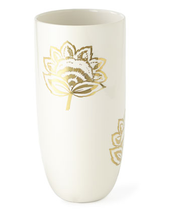 Gold Floral Vases