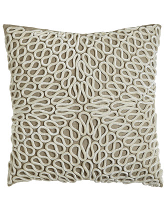 Pillow with Coil Embellishment, 22