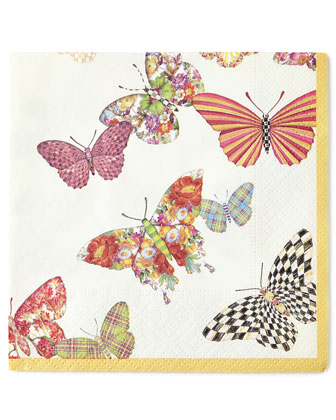 Butterfly Garden Cocktail Napkins & Guest Towels