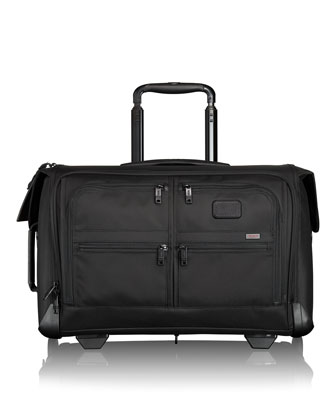 Black Alpha Wheeled Carry-On Garment Bag