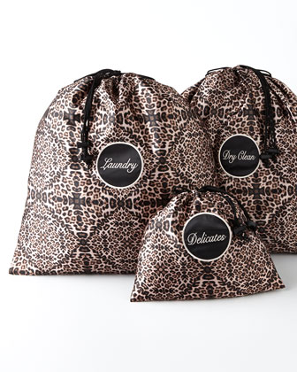 Leopard Travel Laundry Bags