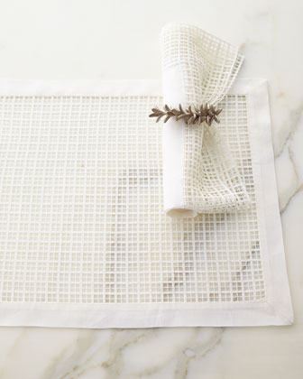 Linen & Lace Placemat & Napkin Set