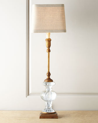 Andrea Glass Buffet Lamp