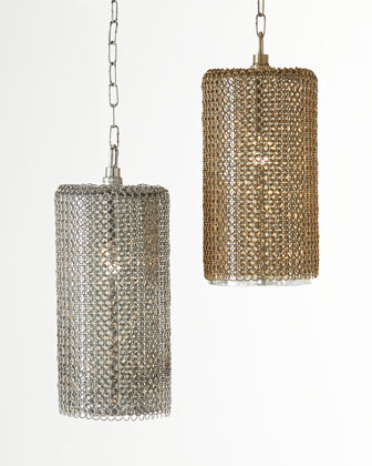 Lancelot Chain-Mesh Pendant Light