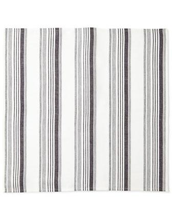 Provence Stripe Napkin & Macrame Napkin Ring