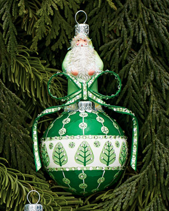Green & White Anniversary Orb Ornament