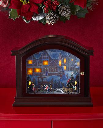 Illuminated Mantel Music Box