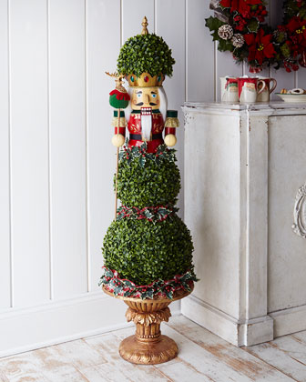 Nutcracker Christmas Topiary