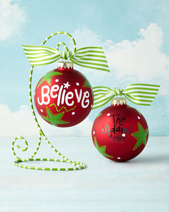 Believe Personalized Christmas Ornament