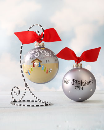 Rejoice Nativity Personalized Christmas Ornament