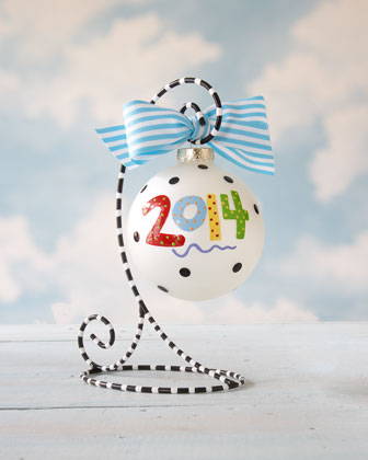 2014 Personalized Annual Christmas Ornament
