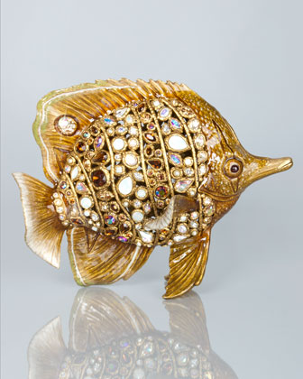 Weston Bejeweled Butterfly Fish Figurine