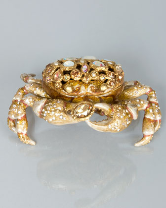 Gavin Bejeweled Crab Box