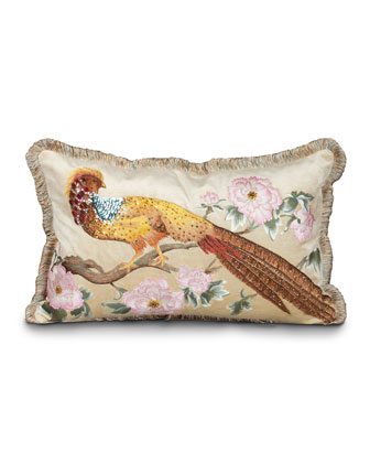Golden Pheasant Pillow