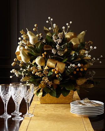 Golden Christmas Centerpiece