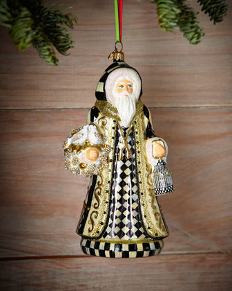 Turtledove Santa Christmas Ornament