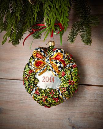 2014 Wreath Christmas Ornament