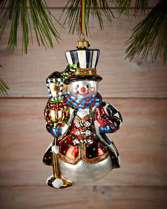 Jolly Snowman Christmas Ornament