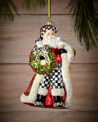 Deck the Halls Santa Christmas Ornament