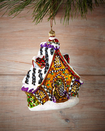 Gingerbread Cottage Christmas Ornament