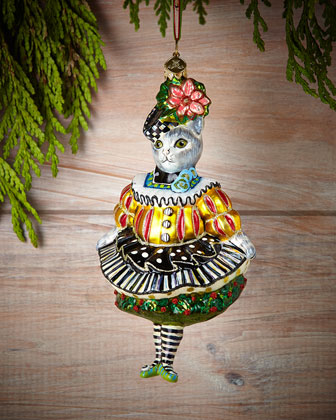 Miss Kitty Kat Christmas Ornament