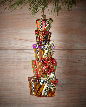 Stacking Presents Christmas Ornament