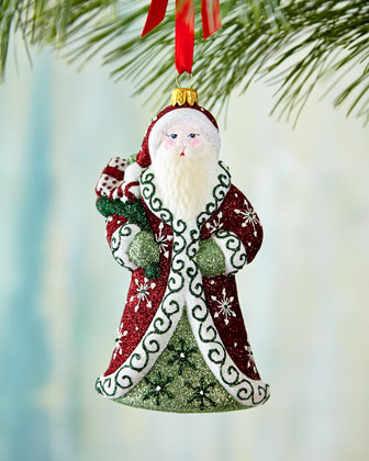 Regal Santa Christmas Ornament
