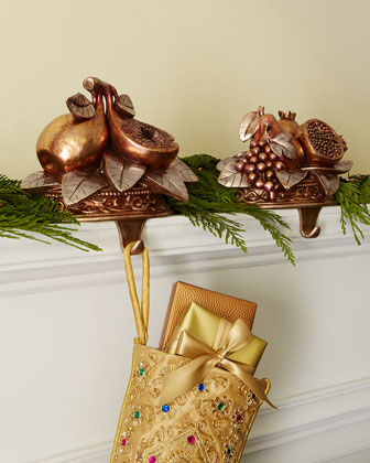 Festive Fruit Christmas Stocking Hooks