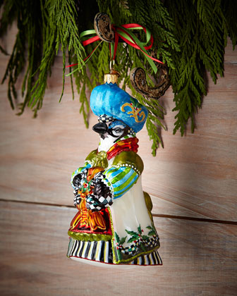 Beatrix Blue Christmas Ornament
