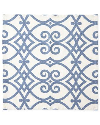 Brynn Indigo Tablecloths & Napkins, Jefferson Placemats