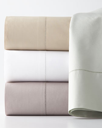 King 406TC Percale Fitted Sheet