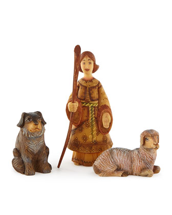 Shepherd, Sheep, & Dog Set