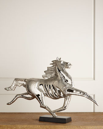 Nickel Horse Sculpture