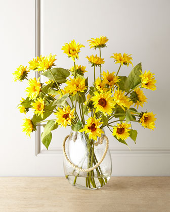 Indian Summer Faux Sunflowers Floral Arrangement
