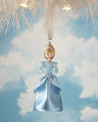 Fairytale Princess Glass Christmas Ornaments
