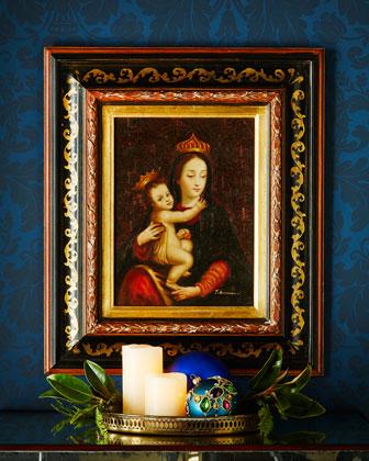 Madonna & Child Oil Painting, Rectangular Frame