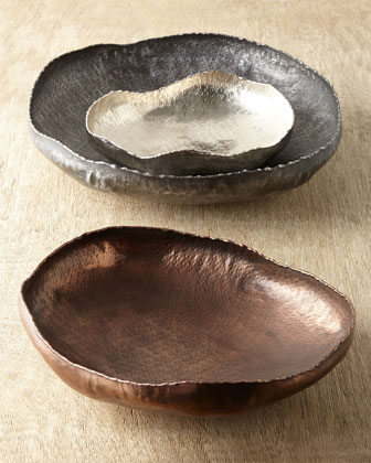 Three Carli Free-Form Platters