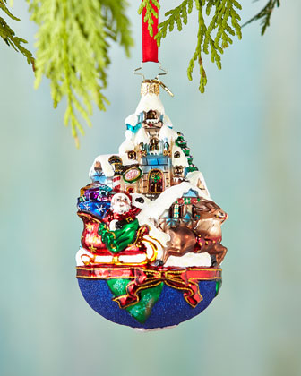 Global Sleighride Christmas Ornament