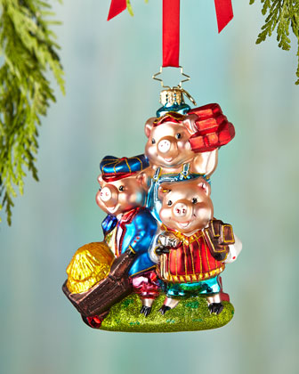 Piggly Constructors Christmas Ornament