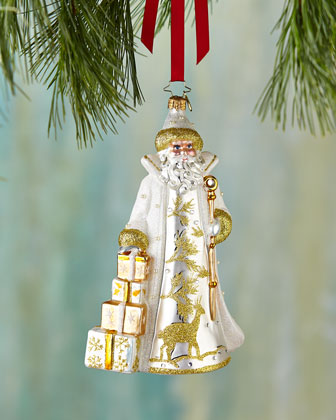 Golden Frost St. Nicholas Christmas Ornament