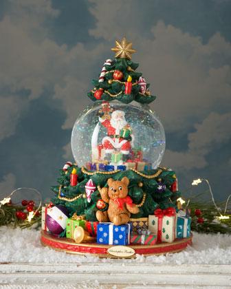 Splendid Santa's Tree Snowglobe