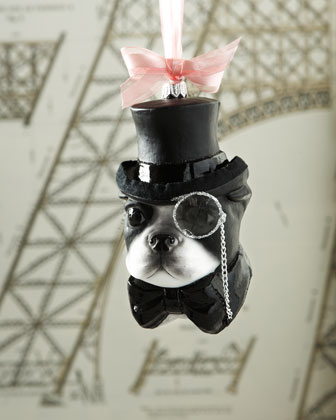 Mr. French Bulldog Christmas Ornament