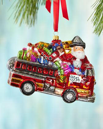 2014 Fire Engine Christmas Ornament